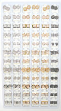 72 PAIR MICROPAVE EARRINGS ASSORTED *BULK* STORE OWNERS FREE SHIPPING WHOLESALE