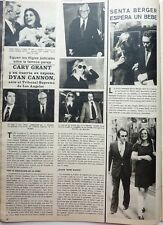 CARY GRANT / DYAN CANNON / SENTA BERGER =  1  page 1980  Spanish CLIPPING !!!