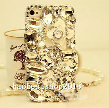 Bling Clear Crystal Diamonds Soft Gel TPU Back Phone shell Case Cover Skin UK-14