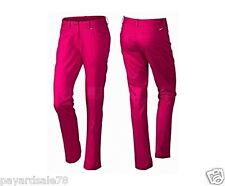 WOMEN'S SIZE 14 NIKE JEANS STYLE GOLF PANTS $95.00 FUCHSIA FORCE DRI-FIT