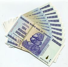 ZIMBABWE 2008 10 BILLION  MONEY BANKNOTE UNC -P 85 INFLATION CURRENCY x 10 BILLS