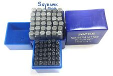 1/4'' Size and 4mm 72 Pc Letter & Number Stamp Set Hardened Steel Metal Die