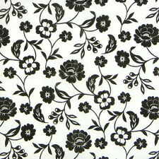 4x Single Table Party Paper Napkins for Decoupage Craft Flowers Black & white