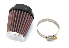 "K&N Tapered Chrome Air Filter • 49mm • 1.94"" FLG, 3""B, 2""T, 3""H • RC-1060"