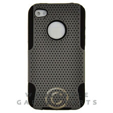 Apple iPhone 4/i4S Hybrid Mesh Case Gray Case Cover Shell Protector Guard Shield