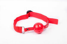 Red Breathable Ball Gag - fetish roleplay slave gimp bondage
