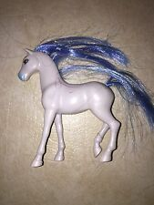 Mattel Disney Princess Cinderella Polly Pocket White Horse Blue Main Tail