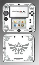 Legend of Zelda Grey White Special Edition Game Decal Skin Cover Nintendo 2DS