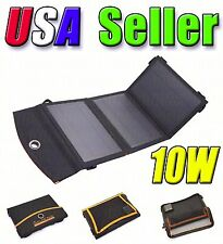 Portable Foldable 10W Solar Panel External Battery Charger Dual USB Power Bank