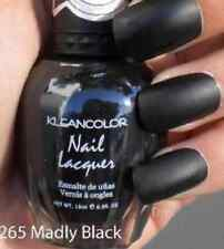 New Kleancolor Nail Polish Lacquer # 265 MADLY BLACK MATTE BLACK art color