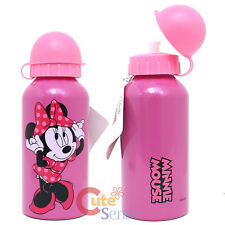 Disney Minnie Mouse Aluminum Sports Water Bottle Tumbler Container :13oz