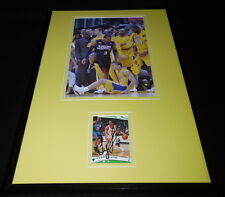 Tyronn Lue Signed Framed 11x17 Photo Display Lakers vs Allen Iverson