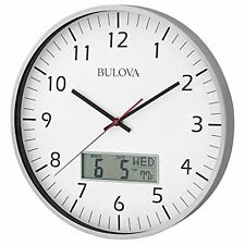 Wall Clocks Bulova C4810 Wall Clock Quiet Sweep Seconds Hand With Date