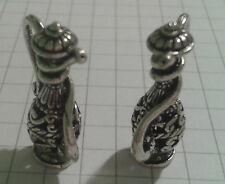 Tibetan silver paire de correspondants miniture pots design vintage 2.5X1.5CM boxed