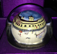 OCEAN CITY NJ  BEACH & PIER SCENE  COLLECTIBLE GLASS PAPERWEIGHT BIN