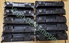 10 Virgin Genuine Empty HP 05A Laser Toner Cartridges FREE SHIPPING CE505A