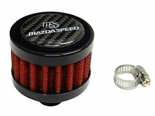 CARBON FIBER 9MM RACING MINI AIR OIL BREATHER FILTER FOR MAZDA - RED