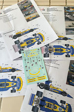 Decals March 761 1976 Formula 1 1/43rd scale for Tameo Kits by Cigale 43 CDS003