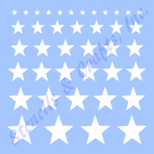 "STARS STENCIL ASSORTED SHAPES STAR STENCILS BORDERS CRAFT TEMPLATE NEW 10"" X 8"""