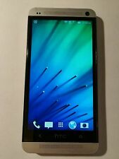 HTC One M7 - 32GB - Silver (Unlocked) Smartphone, Excellent condition w/extras