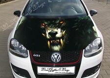 Angry Wolf Full Color Graphics Adhesive Vinyl Sticker Fit any Car Hood #211