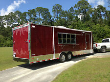 8.5X28 Concession Food Trailer W/ Sinks, Gas, and Fire Suppresion