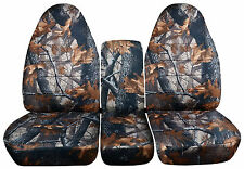 Grey Real Tree Camouflage 40/20/40 Seat Covers for a 1993 to 1998 Ford F Series