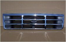 92 96 Ford Truck & Bronco Chrome Grill F150 F250 F350 F450 OEM Type FO1200173