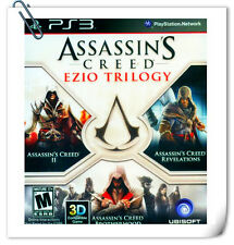 【3 IN 1】 PS3 PlayStation ASSASSIN'S CREED EZIO TRILOGY Action Ubisoft