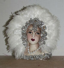 Unique Creations Small  9' Art Deco Lady Doll Bust Head Vase