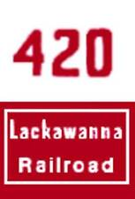 HO 420 LACKAWANNA NOSE ADHESIVE BACK for GILBERT HO/AMERICAN FLYER HO TRAINS