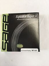 "SAGE EQUATOR TAPER II WF10F SALTWATER FLY LINE- NEW IN BOX ""OVER 60% OFF RETAIL"""