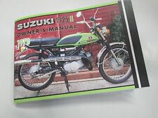 Suzuki T125 1970  owner's manual