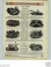 1925 PAPER AD Worthington Gang Golf Course Lawn Mower Horse Drawn Tractor