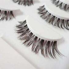 5 Pairs Natural Long Cross False Eyelashes Fake Thick Black Eye Lashes Beauty