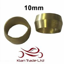 10mm - 10PCS BRASS COMPRESSION OLIVES PLUMBING FITTINGS ADAPTER