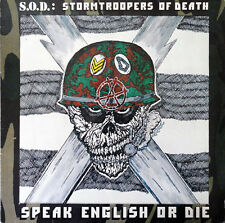 S.O.D.: STORMTROOPERS OF DEATH Speak English Or Die 1985 Vinyl LP