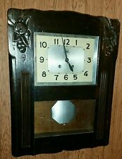 """Morbier"" Regulator Handcrafted French made Key Wind Wall Clock."