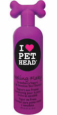 Pet Head Feeling Flaky Dry & Sensitive Skin Shampoo for Dogs, Strawberry Yogurt