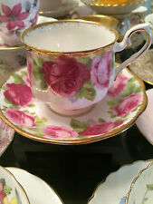 OLD ENGLISH ROSE ROYAL ALBERT Bone China Teacup and Saucer Made in England