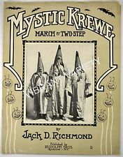 Mystic Krewe By Jack Richmond 1911 Sheet Music Comus Illuminati Clan Mardi Gras