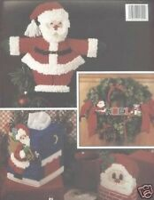 A Jolly Christmas In Plastic Canvas Cross Stitch Chart/Pattern - 7 Projects