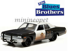 GREENLIGHT 44710 C THE BLUES BROTHERS 1980 1974 DODGE MONACO BLUESMOBILE 1/64 BK