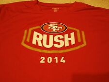 SAN FRANCISCO 49ers RUSH - 2014 Size XXL tech t-shirt - Steve Young Jerry Rice