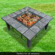 4 in 1 multi Outdoor Fire Pit BBQ Table Grill Heater Fireplace Garden Camping