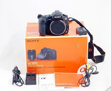 Sony Alpha DSLR A350 14.2 MP Digital SLR Camera Body And Accessories Shown