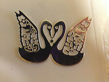 """Cardmaking Die Cuts """"2 Joined Swans"""" Silver Mirror Card Qty 15 - 7.3cmsx5.3cms"""