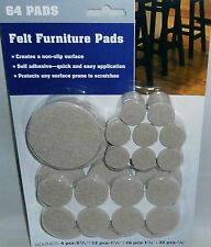 FURNITURE FELT SELF ADHESIVE PADS  64 Pads