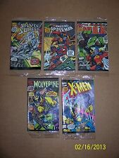 Comicbook MARVEL Miniature set old Silver Surfer,Spiderman,HulK,Wolverine,X-men