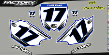 Yamaha YZ250 91-92 Pre Printed Number plate Backgrounds Accel SERIES